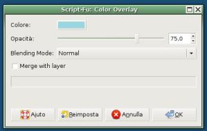 Color Overlay, da porre sopra al livello del Gradient Overlay, codice colore 9ad6df
