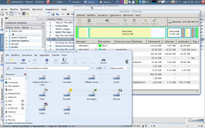 Amarok (KDE), Gparted (root) e Nautilus